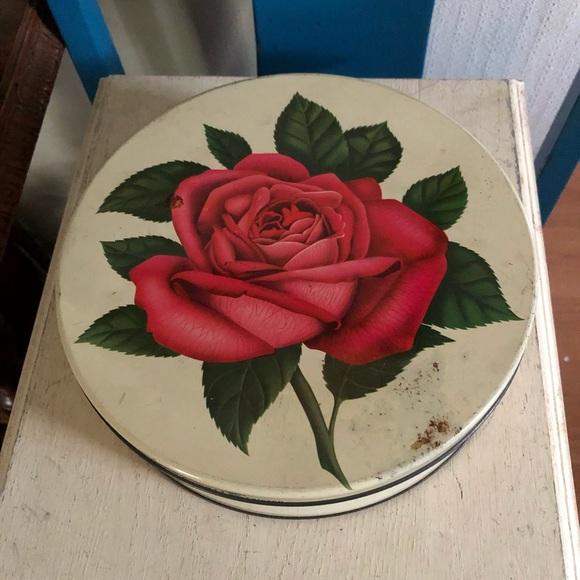 Vintage Collectible Rose Tin